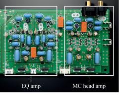 Discretely configured phono amp
