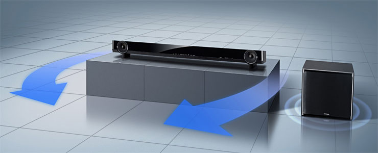 Soundbar with Wireless Active Subwoofer